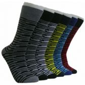 288 Units of Men's Designer Crew Socks