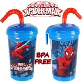 24 Units of SPIDERMAN ACRYLIC SPILL PROOF TUMBLERS