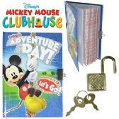 48 Units of DISNEY MICKEY'S CLUBHOUSE DIARY W/ LOCK. - MEMO/NOTES/DRY ERASE