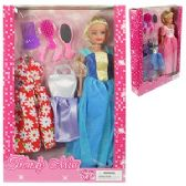 12 Units of 9 PIECE TRENDY MISS FASHION DOLL SETS - Dolls