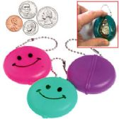 432 Units of SMILEY FACE COIN PURSE KEY CHAINS