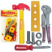 24 Units of WORKER TOY TOOL SETS.