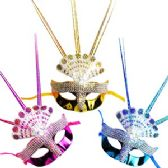 144 Units of SEQUINED FRINGED MASKS. - Masks