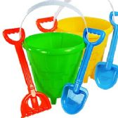 36 Units of 3 PIECE CASTLE SAND BUCKETS - Beach Toys