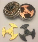 20 Units of Fidget Spinner [3 Blade Black Metal]