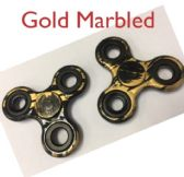 20 Units of Fidget Spinner [Black with Gold Marble]