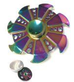 20 Units of Fidget Spinner [Rainbow Metal] Pinwheel