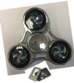 20 Units of Fidget Spinner [Silver with Pinwheel Design]