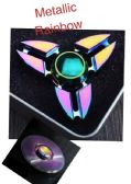 20 Units of Fidget Spinner--Rainbow Anodized Tri-Spinner