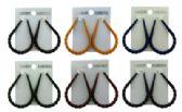36 Units of Water drop shaped hoop earrings with a twist design - Earrings