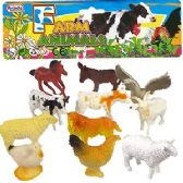 24 Units of 12 PIECE VINYL FARM ANIMAL SETS. - Animals & Reptiles