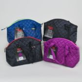24 Units of Cooler 12 Can Quilted Bucket With handles Insulated 4 Asst Colors