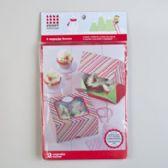 36 Units of Cupcake Boxes 2pk Snowflake Stripe - Baking Items