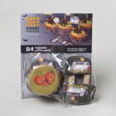 72 Units of Halloween Cupcake Baking Paper 24ct With toppers