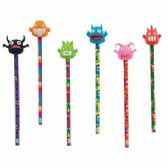 96 Units of Monster Pencil with Eraser Topper