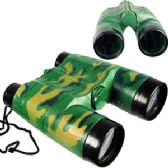 72 Units of TOY CAMOFLAGE BINOCULARS. - Binoculars & Compasses