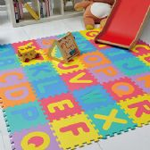 4 Units of 26 PIECES MULTICOLORED ALPHABET PUZZLE PLAY MATS