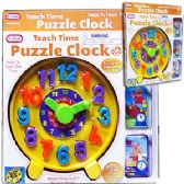 12 Units of TEACH TIME PUZZLE CLOCKS