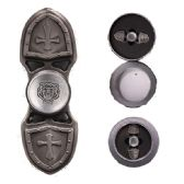 12 Units of TOY SWORD SHIELD FIDGET SPINNER IN SILVER