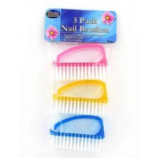 36 Units of 3 Pc Finger Nail Brushes - Manicure and Pedicure Items