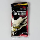 96 Units of Gloves 12ct Latex S-m Smooth Touch Disposable Venom Brand