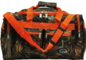 "24 Units of ""E-Z Tote"" 20"" Bag real tree and leaves print/Orange Trim - Travel"