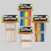 48 Units of Craft Sticks Wood 80pc Reg/40pc Large Natural and multicolor 24pcpdq - Craft Wood Sticks and Dowels