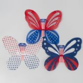 72 Units of Wings Glitter Fairy Patriotic 3ast Designs 16.9 X 14.57in Patriotic Printed Backer Card [G88185]