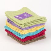 80 Units of Dish Cloths 2pk 12 X 12 Assorted Colors -