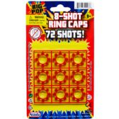 244 Units of 8-SHOT 9-PLASTIC DISK RING CAPS IN BLISTER CARD