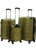 """""""E-Z Roll"""" 3pc Leopard Spinner Wheel Hardshell Luggage"""