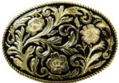 24 Units of Antique Black And Gold Rope Belt Buckle - Belt Buckles