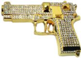 12 Units of Golden Rhinestone Gun Belt Buckle - Belt Buckles