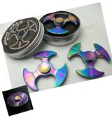 20 Units of Metal Fidget Spinner--Metal Rainbow with 3 Blade