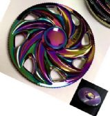 20 Units of Metal Fidget Spinner--Rainbow Anodized Fire Wheel