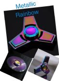 20 Units of Metal Fidget Spinner--Rainbow Anodized Tri-Spinner