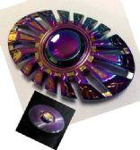 20 Units of Metal Fidget Spinner--Rainbow Metal Oval Shape