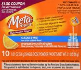 100 Units of Meta-mucil MultiHealth Fiber, 10 Pkts - HBA PALLETS