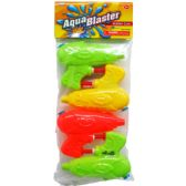 """72 Units of 4PC 3.75"""" WATER TOY GUN IN POLY BAG W/ HEADER"""