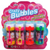 24 Units of CRAZY BUBBLES BOTTLES AND LOOPS IN BLISTER CARD - Bubbles
