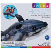 "6 Units of 68""x42"" GREAT WHITE SHARK RIDE-ON W/ HANDLES, AGE 3+ IN BOX"