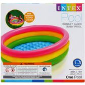"12 Units of 34""X10"" 3-RING BABY POOL W/ INF. FLOOR IN COLOR BOX"