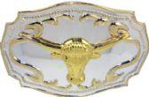 12 Units of Golden Bull Head Belt Buckle - Belt Buckles