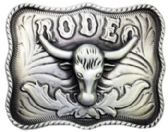 24 Units of Rodeo Bull Belt Buckle - Belt Buckles
