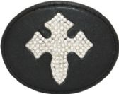 24 Units of Leather Cross Belt Buckle - Belt Buckles