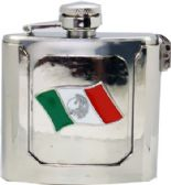 12 Units of Mexican Flag Flask Belt Buckle - Belt Buckles