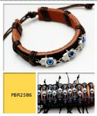 108 Units of EVIL EYE Hand Leather Bracelet - Barrett
