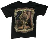 24 Units of Black T Shirt American Patriot Assorted Sizes