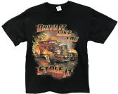 24 Units of Black T Shirt Drive It Like You Stole It Assorted Sizes