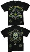 24 Units of Black T Shirt Killer Weed Smoking Division Assorted